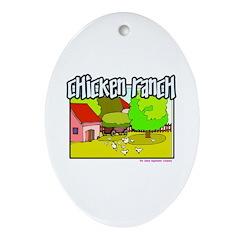Chicken Ranch Farm Texas Keepsake (Oval)