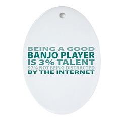 Good Banjo Player Oval Ornament