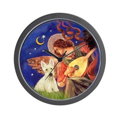 Wheaten Scotty / Mandolin Angel Wall Clock