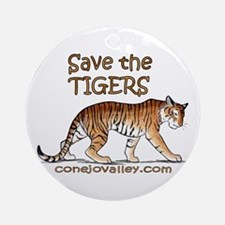 Save The Tigers Ornament (Round)