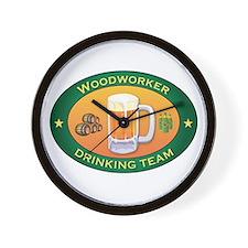 Woodworker Team Wall Clock