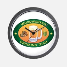 Woodworker Team Wall Clock