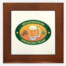 Woodworker Team Framed Tile