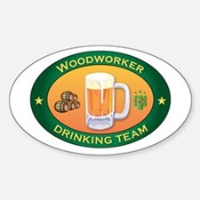 Woodworker Team Oval Decal