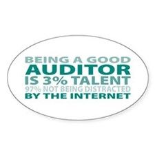 Good Auditor Oval Decal