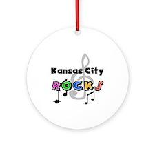 Kansas City Rocks Ornament (Round)