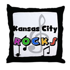 Kansas City Rocks Throw Pillow