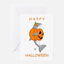 Halloween Dolphin Greeting Card