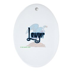 Lawyer Vulture Keepsake (Oval)