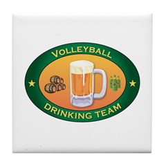 Volleyball Team Tile Coaster