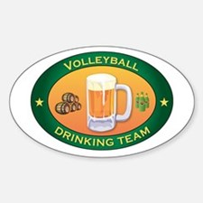 Volleyball Team Oval Decal