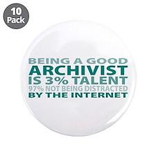 "Good Archivist 3.5"" Button (10 pack)"