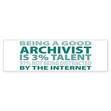 Good Archivist Bumper Car Sticker