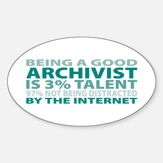 Good Archivist Oval Decal