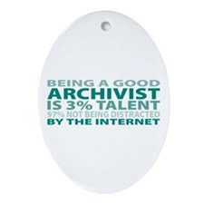 Good Archivist Oval Ornament