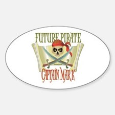 Captain Mark Oval Decal