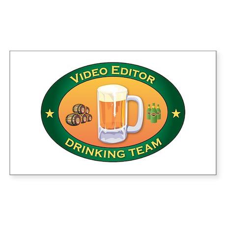 Video Editor Team Rectangle Sticker 10 pk)