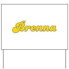 Retro Brenna (Gold) Yard Sign