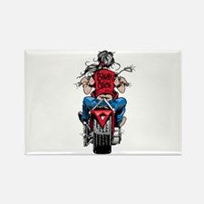 Biker Chick Rectangle Magnet