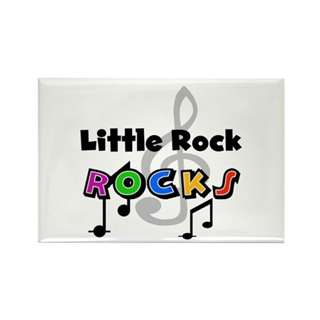 Little Rock Rocks Rectangle Magnet