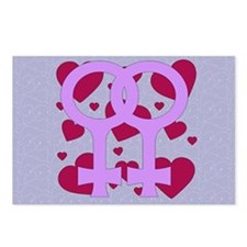 Lesbian Marriage Hearts Postcards (Package of 8)