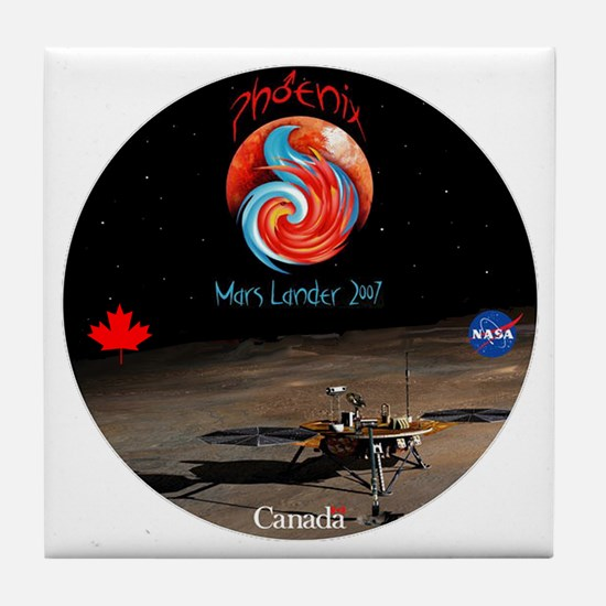 NASA Canada Phonenix Tile Coaster