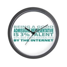 Good Admissions Representative Wall Clock