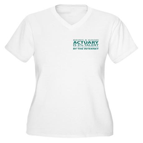 Good Actuary Women's Plus Size V-Neck T-Shirt