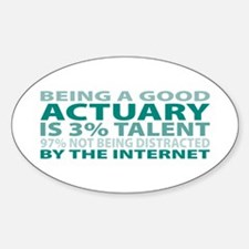 Good Actuary Oval Decal