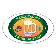 Table Tennis Team Oval Decal