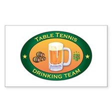 Table Tennis Team Rectangle Decal