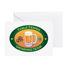 Table Tennis Team Greeting Card