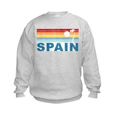 Retro Palm Tree Spain Sweatshirt