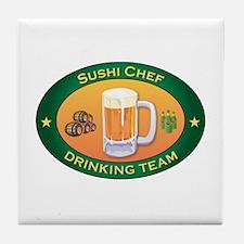 Sushi Chef Team Tile Coaster