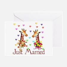 Wedding Giraffes Greeting Card