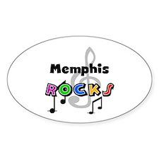 Memphis Rocks Oval Decal
