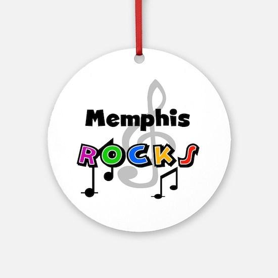 Memphis Rocks Ornament (Round)