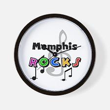Memphis Rocks Wall Clock