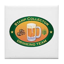 Stamp Collector Team Tile Coaster