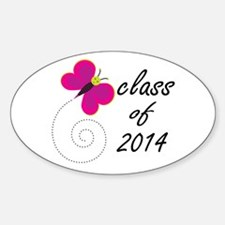 Pretty Class Of 2014 Oval Decal