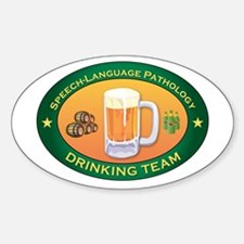 Speech-Language Pathology Team Oval Decal
