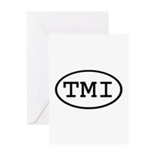 TMI Oval Greeting Card