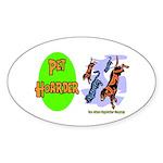 Pet Hoarder Oval Sticker
