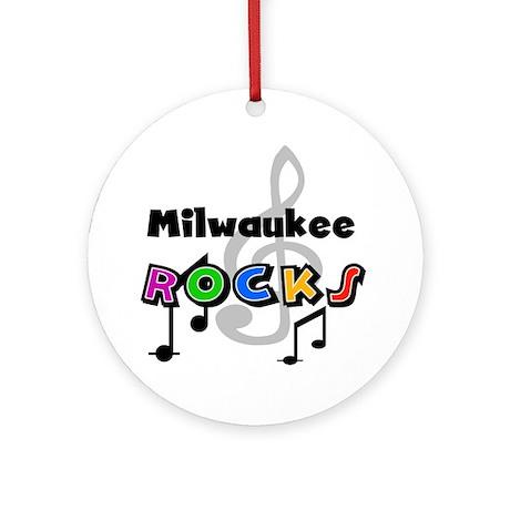 Milwaukee Rocks Ornament (Round)