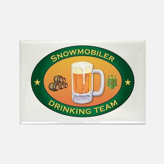 Snowmobiler Team Rectangle Magnet