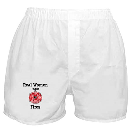 Real Women Fight Fires Boxer Shorts