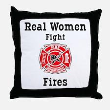 Real Women Fight Fires Throw Pillow