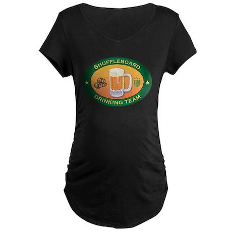 Shuffleboard Team Maternity Dark T-Shirt