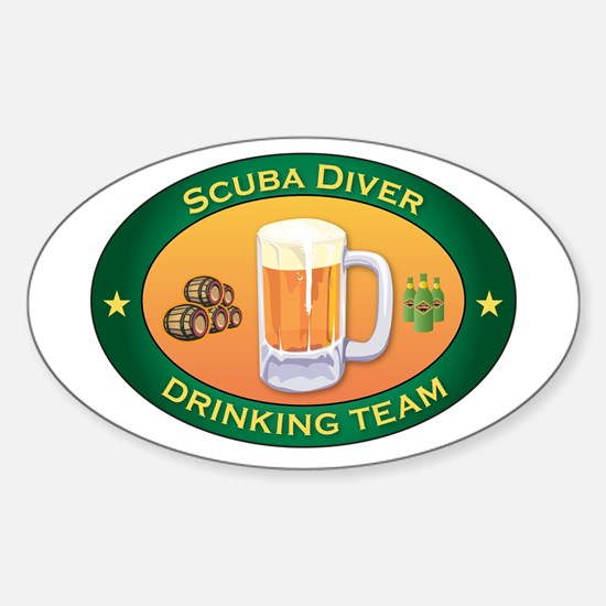 Scuba Diver Team Oval Decal