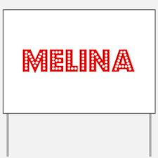 Retro Melina (Red) Yard Sign